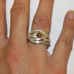 Exposant Sieraad aan de IJssel 2016 Michel Kortman-Galerie Nouverture Michel Kortman ring met bruine diamant  (Medium)